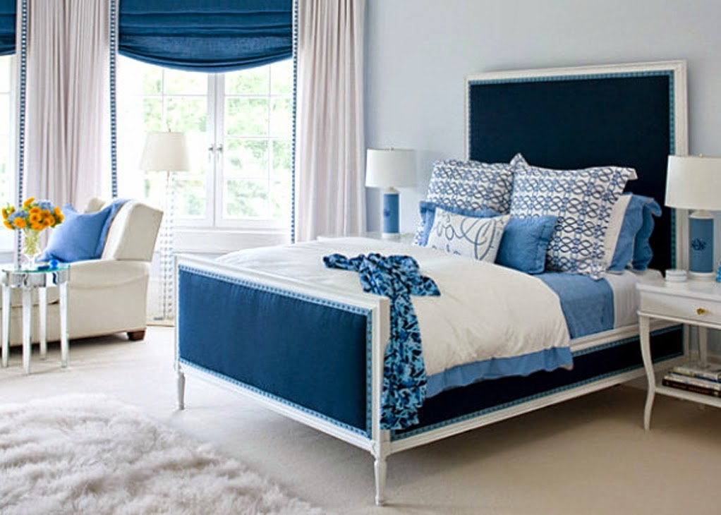 Blue Bedroom Design For Teenage Girls