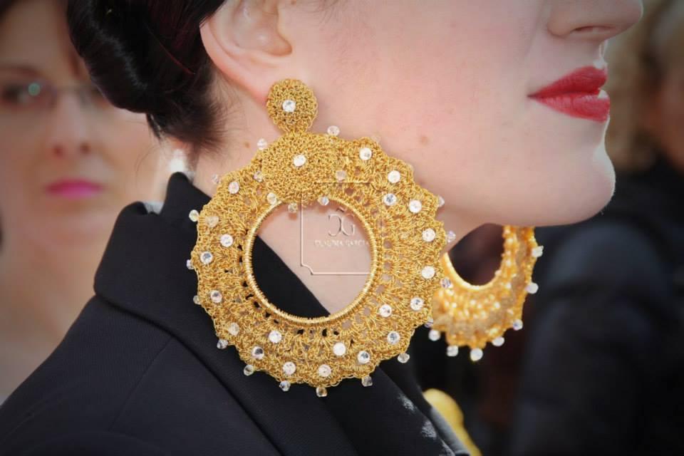 Lady trap en los toros claudia garc a moda taurina - Fotos de pendientes ...