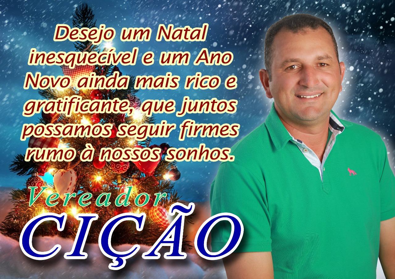 Mensagem de Natal e Ano Novo do Vereador Cicão a todos de Inhapienses