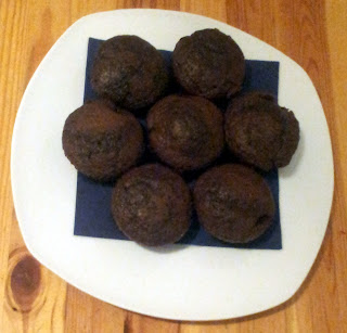 Muffiny czekoladowo-kawowe z wiśniami