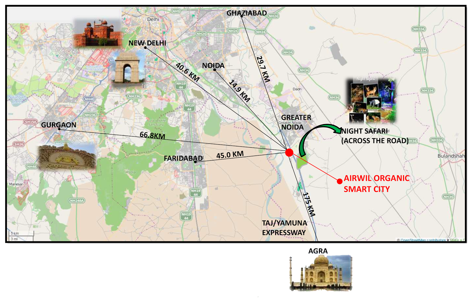 Airwil Smart City Location Map