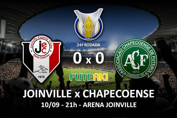 Veja o resumo da partida com os melhores momentos de Joinville 0x0 Chapecoense pela 24ª rodada do Brasileirão 2015.