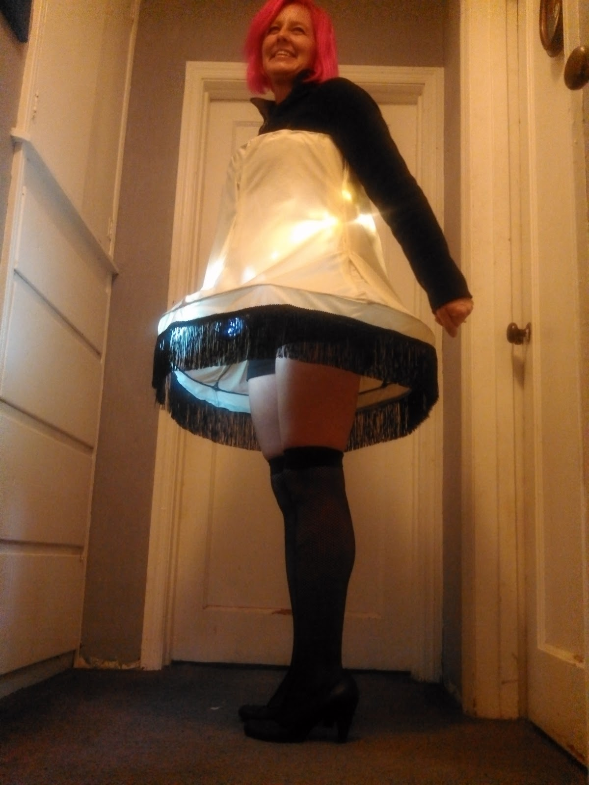 a christmas story leg lamp halloween costume tutorial