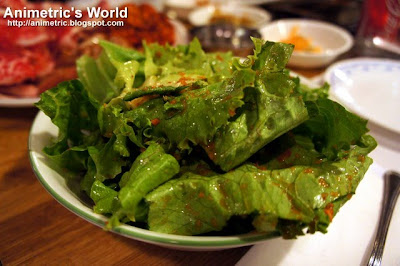 Salad at Pine Tree Korean BBQ Restaurant