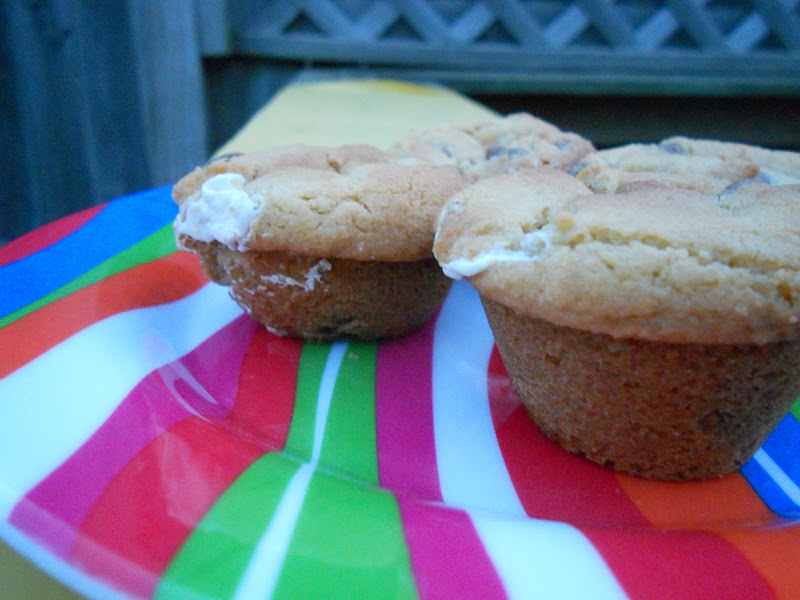 Ally's Sweet and Savory Eats: Marshmallow Stuffed Cupcake Cookies