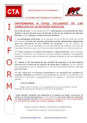 INFORMAMOS A CONIL SOLIDARIO DE LOS DERECHOS DE LA SECCIÓN SINDICAL