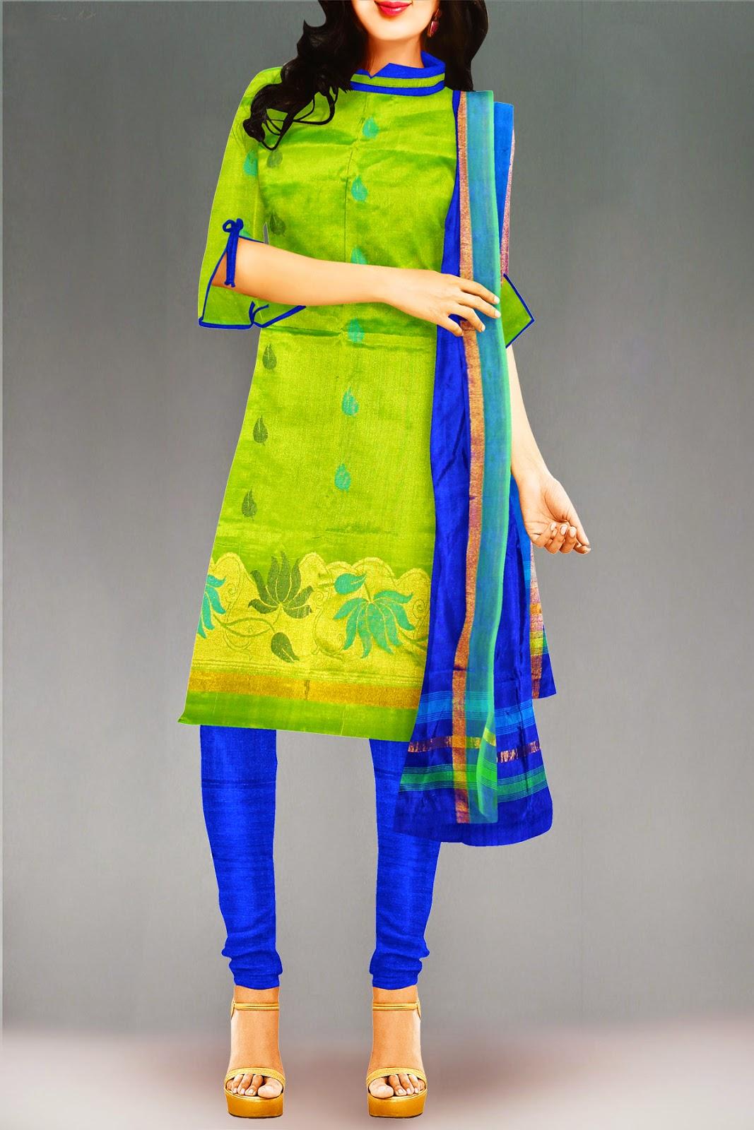 Stylish Cotton Sarees And Salwar Suits Unnatisilks Com