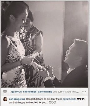 """WILL  YOU  MARRY  ME ?""  FINALLY,  SENATOR  CHIZ  KNEELS  BEFORE  HEART!"