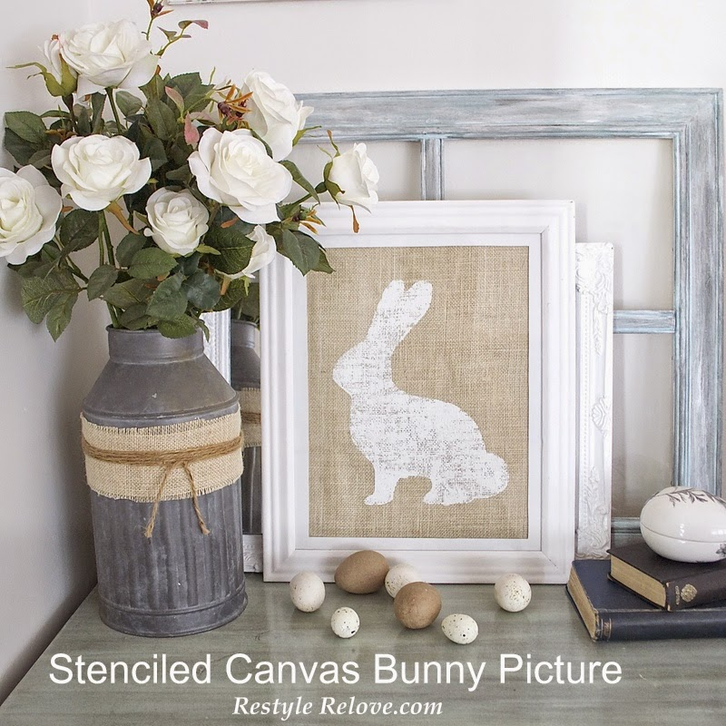 Bunny Canvas- Restyle Relove-Treasure Hunt Thursday Blog Link Up Party- From My Front Porch To Yours