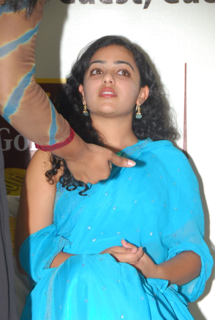 Nithya Menon Hot In Saree Nithya menon new hot stills