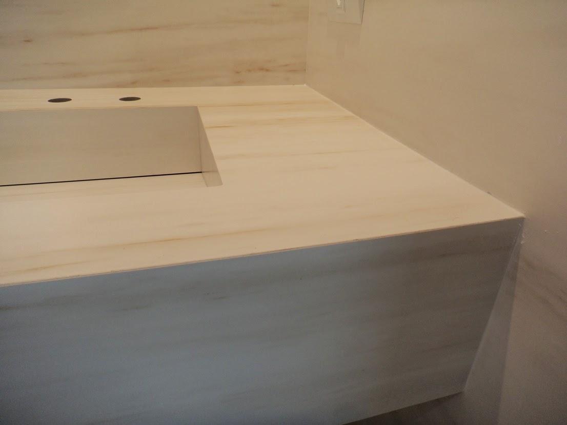 Bancada com cuba em porcelanato Portobello BIANCO DI ARISTON 60X120 #876944 1106x829 Bancada Banheiro Portobello