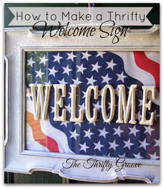 How to make a thrifty Welcome Sign