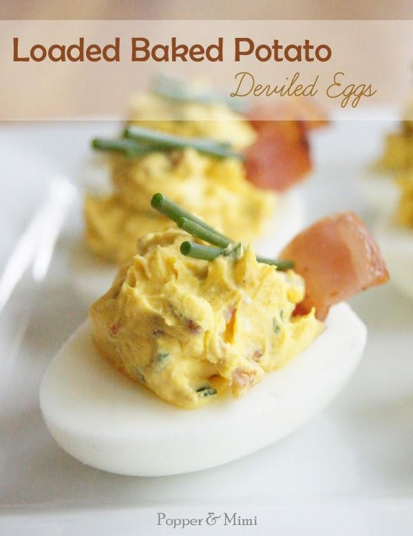 Loaded Baked Potato Deviled Eggs Recipe | popperandmimi.com