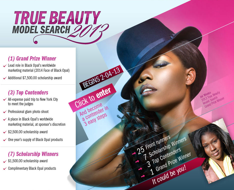 Black Opal Model Search