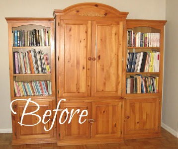 last week i showed you my armoire redo with homemade chalk paint