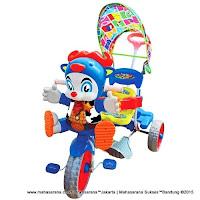 Sepeda Roda Tiga Royal RY9682C Cowboy Ban Jumbo Dobel Musik-Blue