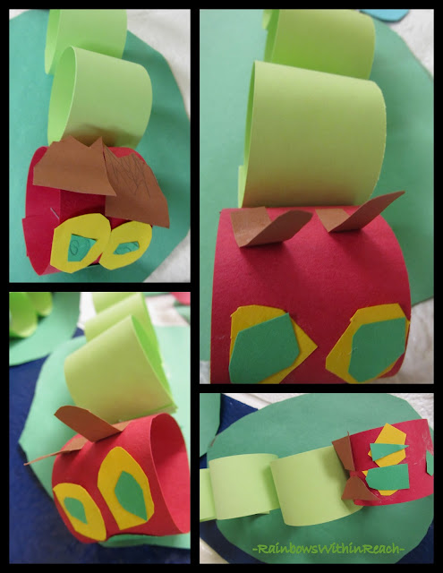 photo of: Construction Paper Crawling Caterpillars (via RainbowsWithinReach)