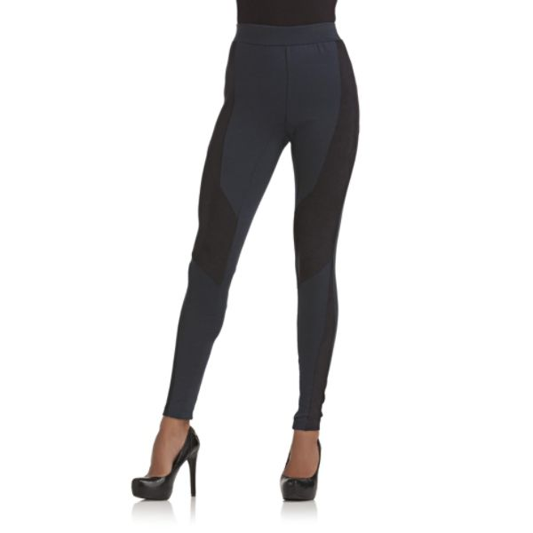 Suede Panel leggings