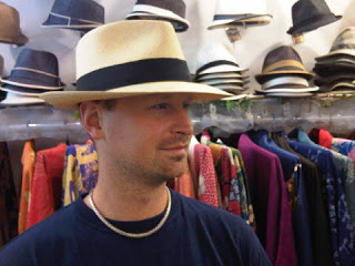 Panama Hat on young professional man