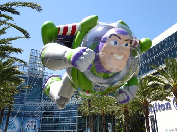 Giant Buzz Lightyear inflatable balloon D23 Expo