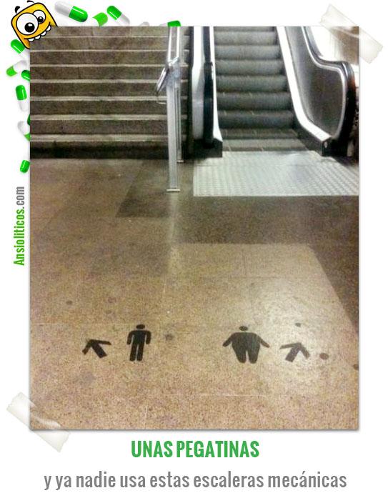 Chiste de Gordos Escaleras Mecánicas