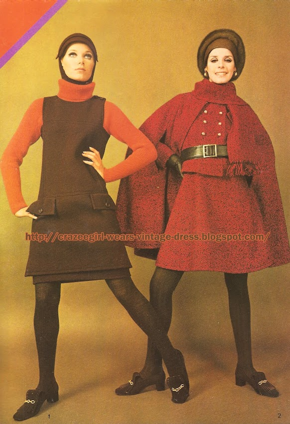 Yves Saint-Laurent - Dress coat and cape skirt suit - 1967 60s 1960