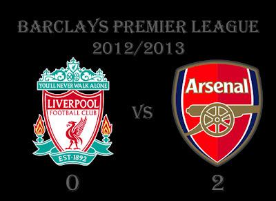 Arsenal v Liverpool Barclays Premier Result 2012