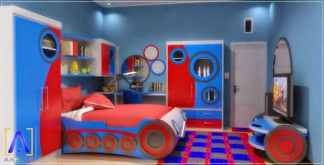 Kamar Anak Laki-Laki warna Biru