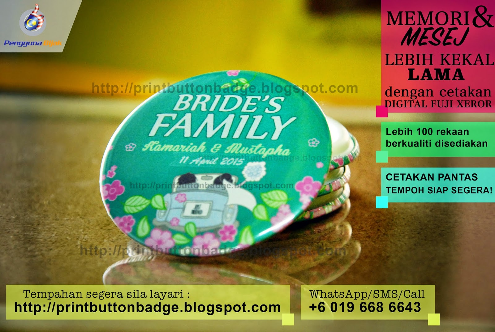 Button Badge Murah