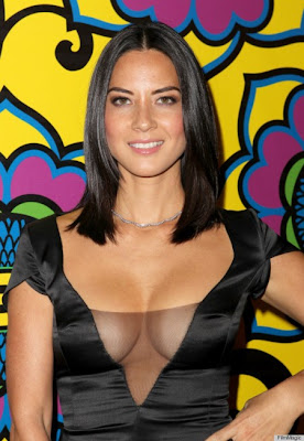 Olivia Munn HBO's Annual Emmy Awards 2012 sexy boobs cleavage
