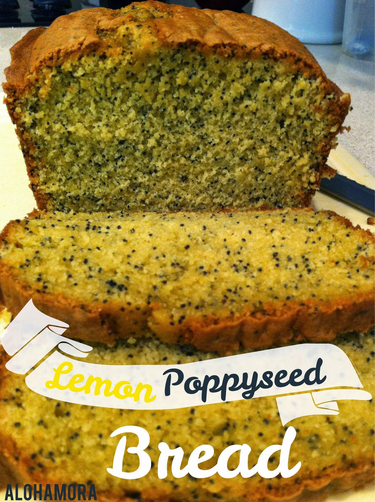 Easy Lemon Poppyseed Bread uses a cake mix and tastes delicious! Alohamora Open a Book http://alohamoraopenabook.blogspot.com/