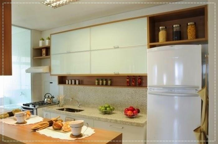 Meu Palácio de 64m² Decoração em cozinhas compactas # Cozinha Compacta Em L