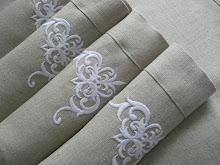Lniane serwetki z haftem