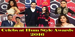 Celebrities at Red Carpet of Hum Style Awards 2016