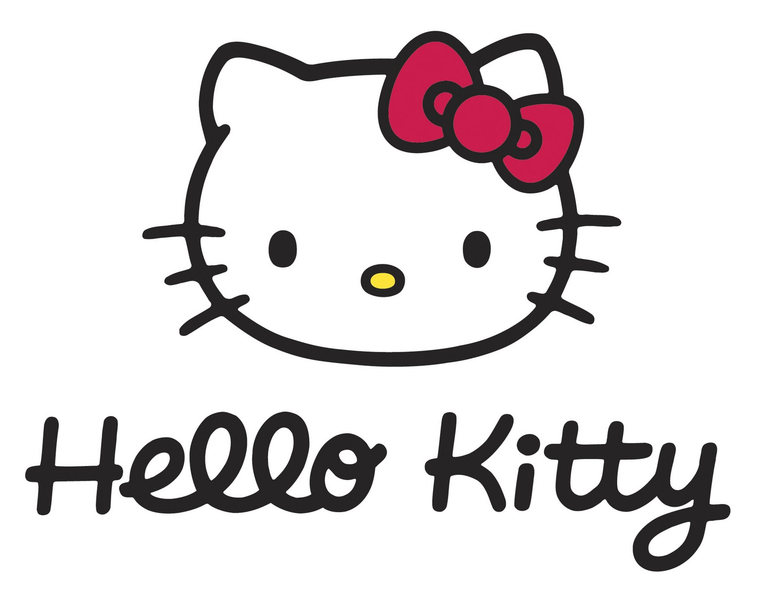 Cara con logotipo de hello kitty