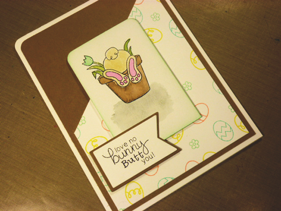 Easter Bunny Butt Card by Simon Hurley | Bunny Hop Stamp set by Newton's Nook Designs