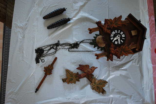 small brown cuckoo clock