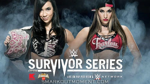 Survivor Series 2014 Nikki Bella wins Divas Championship defeats AJ Lee