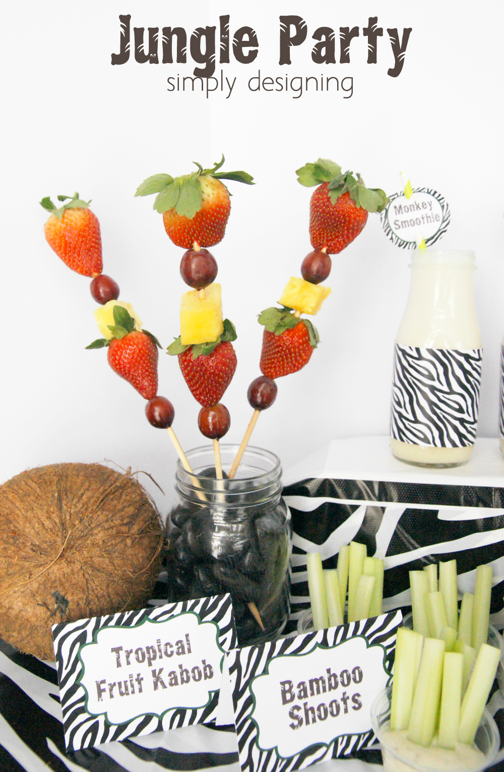 Jungle Party Monkey Smoothie Recipe Free Printables
