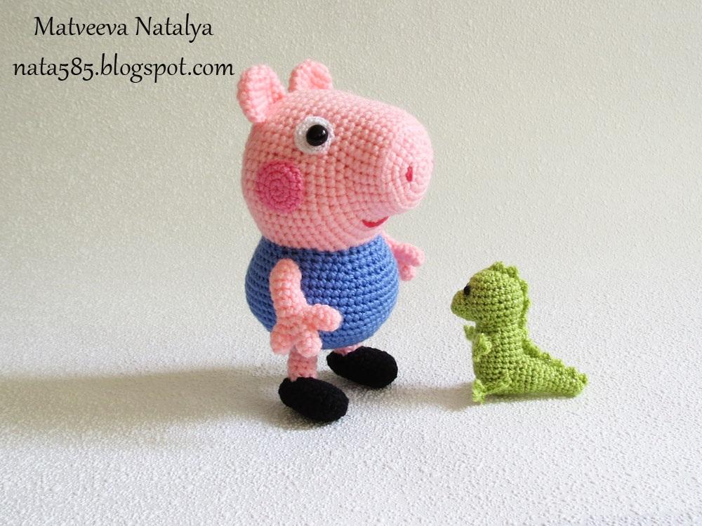 Свинка Джордж вязаный крючком, МК Ровные петельки - Постила