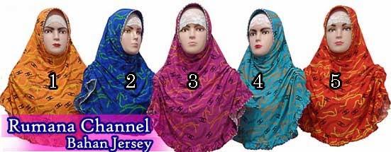 Jilbab motif yang modis rumana chanel