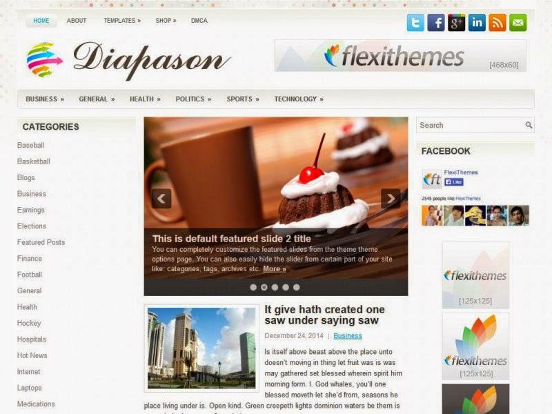 Diapason - Free Wordpress Theme