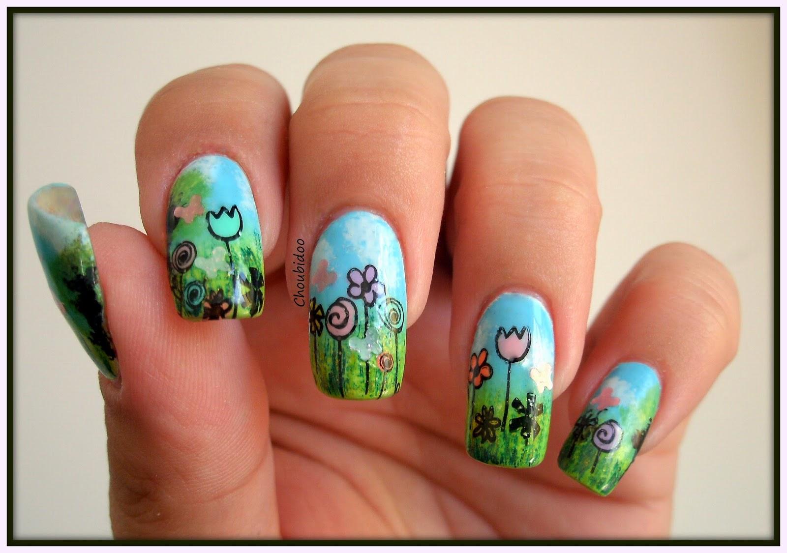 Nail art by choubidoo nail art printemps - Nail art printemps ...