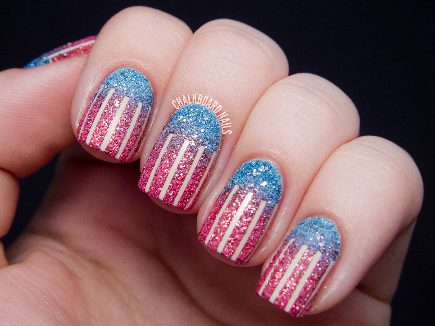 31DC2013 Day 28: Textured American Flag   Chalkboard Nails   Nail ...