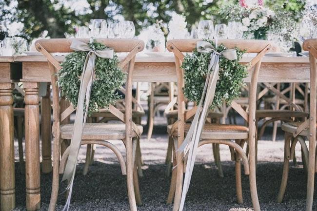 Wreath Wedding Chair Backs