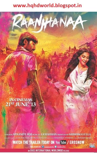 HD Movies: Raanjhana Hindi movie free download
