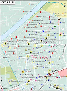 MAP of Vikaspuri New Delhi