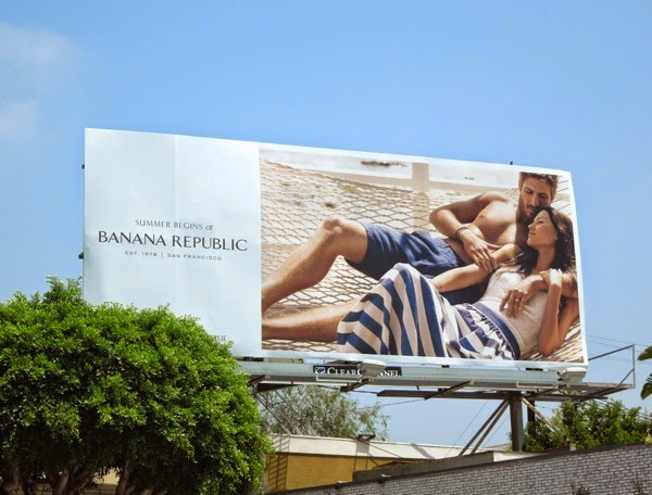 Summer begins Banana Republic billboard