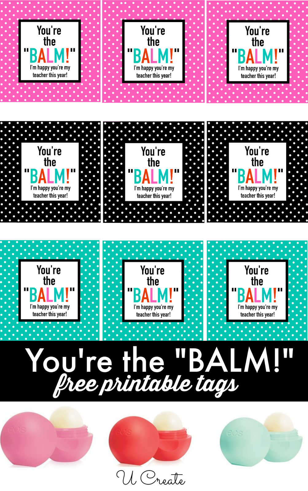 This is an image of Sizzling You're the Balm Printable