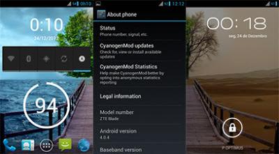 CyanogenMod 9 For ZTE Blade